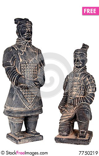 Free Terra-cotta Warriors Royalty Free Stock Images - 7750219