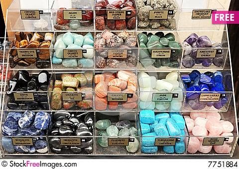 Many souvenirs (stone amulets) Stock Photo