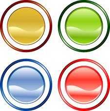 Free Color Buttons Royalty Free Stock Image - 7750426