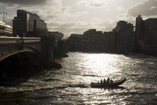 Free Dramatic Lighting On River Thames Stock Photos - 7750743