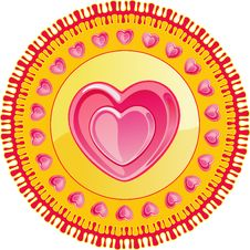 Free DECOR WITH HEARTS ON A CIRCLE Stock Image - 7750861