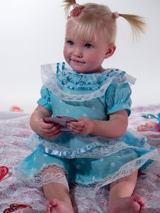 Free Child In Blue Gown Royalty Free Stock Images - 7750959