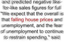 Falling House Prices Stock Images