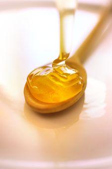Free Honey On Wooden Ladle Royalty Free Stock Image - 7751236