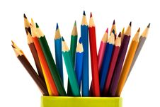Beautiful Color Pencils Stock Photography
