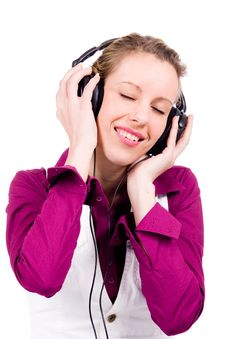 Free Commercial Woman With Music Stock Photo - 7751360