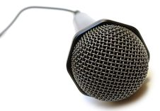 Free Black Wired Karaoke Microphone. Royalty Free Stock Photos - 7751528
