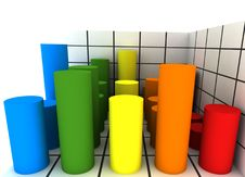 Free Statistics - 3d Isolated On White Royalty Free Stock Photography - 7751837
