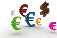 Free Euro/dollar Symbols Stock Photography - 7751852