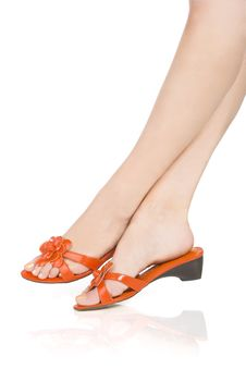 Orange Shoes Stock Image