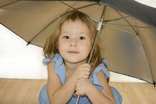 Free Small Pretty Girl With Umbrella Royalty Free Stock Photos - 7754188