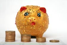 Free Piggy Bank With Icon Stock Images - 7754444