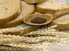 Bread And Corn Stock Photo