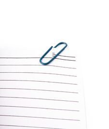 Free Sheet With Paperclip Stock Photo - 7754820
