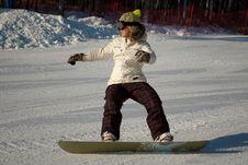 Free Snowboard Girl Royalty Free Stock Photos - 7755158