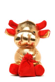 Free Toy Cow For Chinese Year Royalty Free Stock Image - 7756076