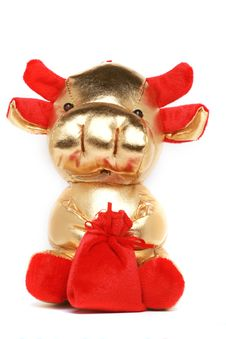Free Toy Cow For Chinese Year Stock Photo - 7756130
