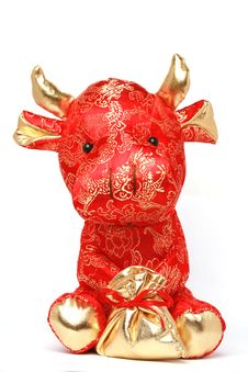 Free Toy Cow For Chinese Year Stock Photography - 7756282