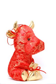 Free Toy Cow For Chinese Year Stock Photos - 7756303
