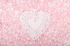 Free White And Pink Hearts Royalty Free Stock Photos - 7756368
