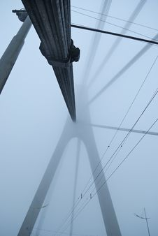 Free Constructions Are In Fog Royalty Free Stock Photography - 7756447