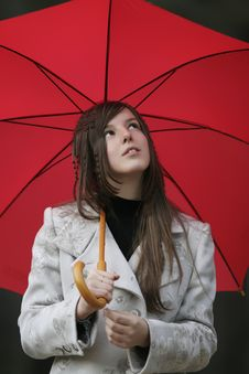 Free Girl With Umbrella Stock Photo - 7756560