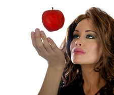 Free Lady With Apple Stock Photo - 7756640