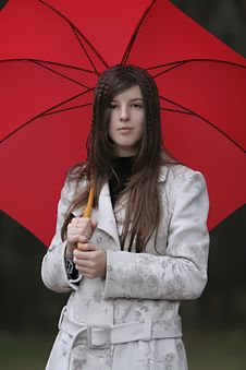 Free Girl With Umbrella Royalty Free Stock Image - 7756736