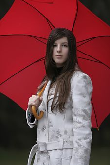 Free Girl With Umbrella Royalty Free Stock Photography - 7756797