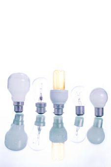 Free Row Of Lightbulbs Royalty Free Stock Photos - 7756878