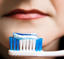Free A Girl With A Toothbrush Stock Image - 7757061