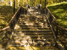 Stairs In The Park Stock Images
