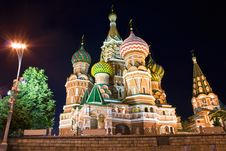 Free Saint Basil S Cathedral At Night Stock Photo - 7758110