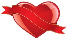 Glossy Valentines Heart Stock Image
