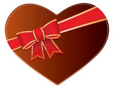 Free Valentines Chocolate Box With Bow And Ribbons Royalty Free Stock Photo - 7758565