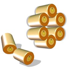 Free Shell Casings Royalty Free Stock Photography - 7759547