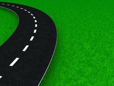 Free Road Over Grass Royalty Free Stock Photos - 7759568