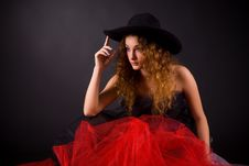 Attractive Girl In Hat Royalty Free Stock Photography