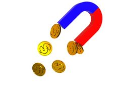 Free Magnet And Coins Stock Photography - 7759832