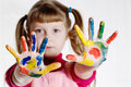 Free Girl And Paint Royalty Free Stock Photography - 7762737