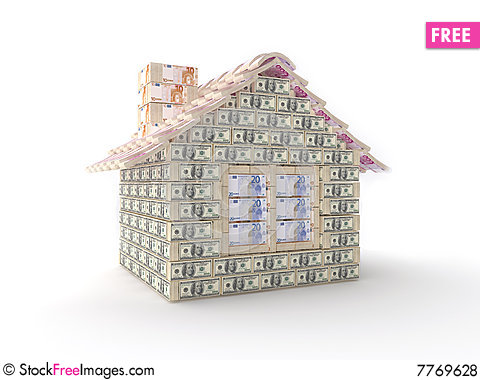 Free The House Made Of 100 Dollar Royalty Free Stock Photos - 7769628
