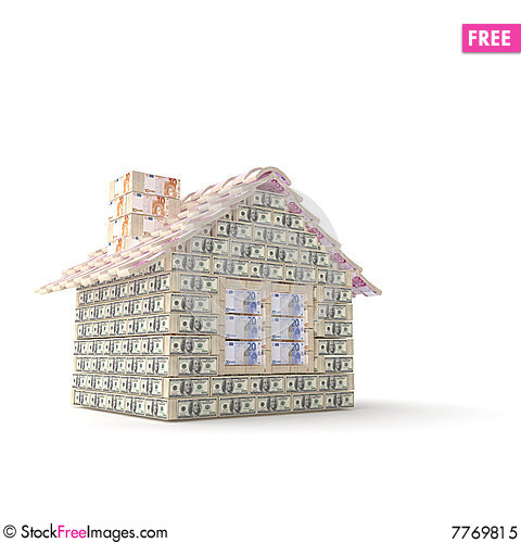 Free The House Made Of 100 Dollar Royalty Free Stock Photo - 7769815