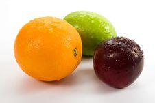 Free Lemon, Orange And Plum Stock Image - 7760091