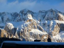 Dolomites And The Roof Royalty Free Stock Image