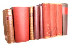 Free Old Leather Bound Books Stock Images - 7760724