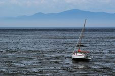 Free Beached Sailboat During A Dry Spell Royalty Free Stock Image - 7761246