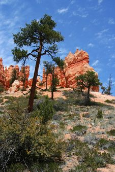 Free Hill And Sky At Bryce Canyon Stock Photo - 7761570