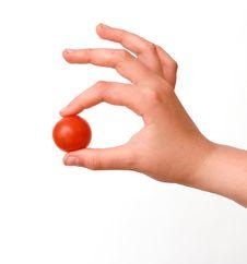 Free Hand With Cherry Tomato Stock Photo - 7761810