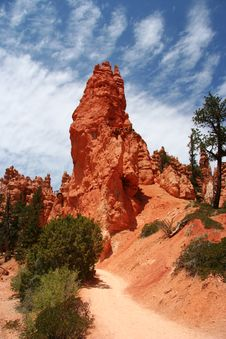 Free Bryce Canyon Trail Royalty Free Stock Photos - 7762078