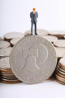 Silver Dollar Stock Photo